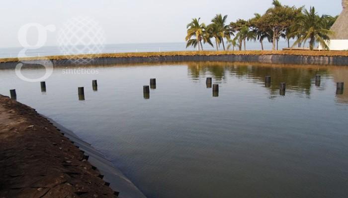 Lagos artificiales geosint ticos y geomembranas for Construccion de lagos artificiales